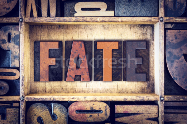 Fate Concept Letterpress Type Stock photo © enterlinedesign