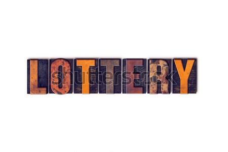 Lotteria isolato tipo parola scritto Foto d'archivio © enterlinedesign
