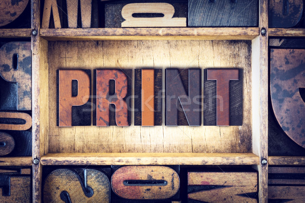 Print Concept Letterpress Type Stock photo © enterlinedesign