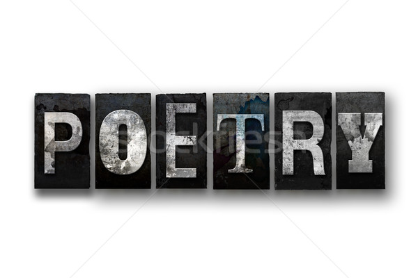 Poesia isolado tipo palavra escrito Foto stock © enterlinedesign