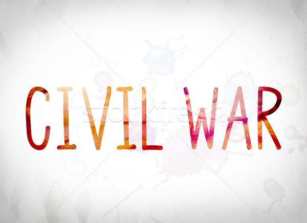 Civil War Concept Watercolor Word Art Stock photo © enterlinedesign