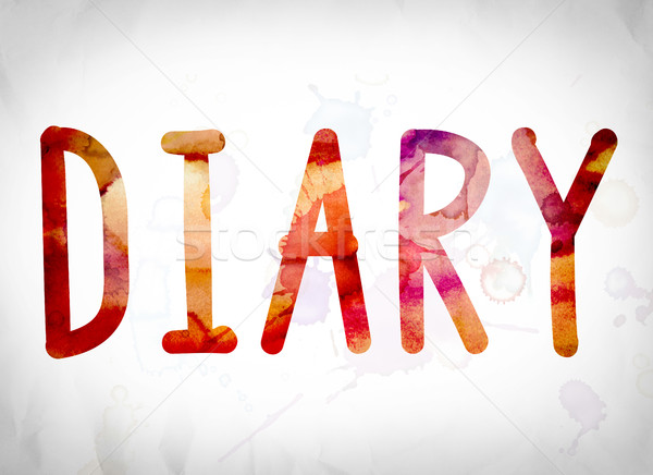 Diary Concept Watercolor Word Art Stock photo © enterlinedesign