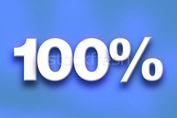 Stock fotó: 100 · százalék · színes · szó · művészet · írott
