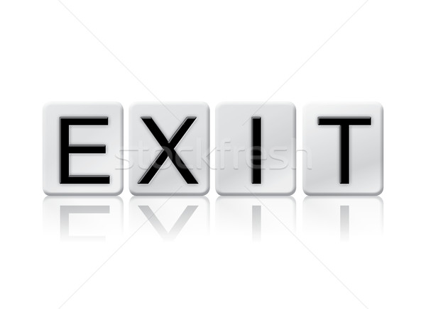 Exit Isolated Tiled Letters Concept and Theme Stock photo © enterlinedesign
