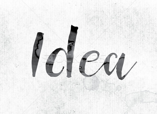 Idea Concept Painted in Ink Stock photo © enterlinedesign
