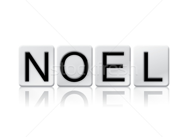 Noel Isolated Tiled Letters Concept and Theme Stock photo © enterlinedesign