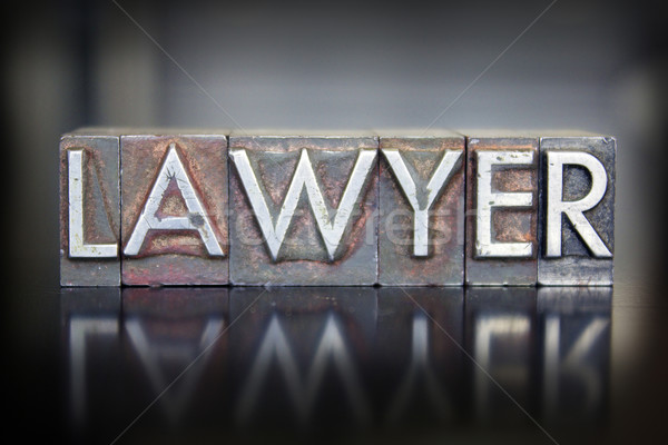 Lawyer Letterpress Stock photo © enterlinedesign