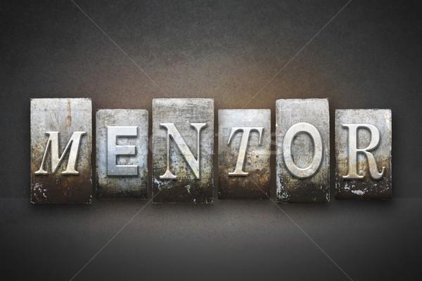 Mentor słowo napisany vintage typu Zdjęcia stock © enterlinedesign