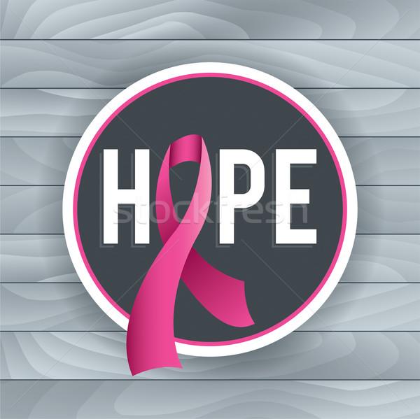 Breast Cancer Awareness Hope Theme Illustration Stock photo © enterlinedesign
