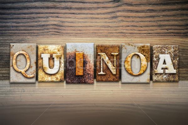 Quinoa Concept Letterpress Theme Stock photo © enterlinedesign