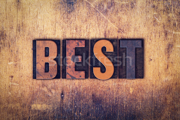 Best Concept Wooden Letterpress Type Stock photo © enterlinedesign