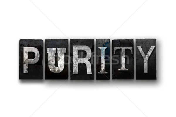 Purity Concept Isolated Letterpress Type Stock photo © enterlinedesign