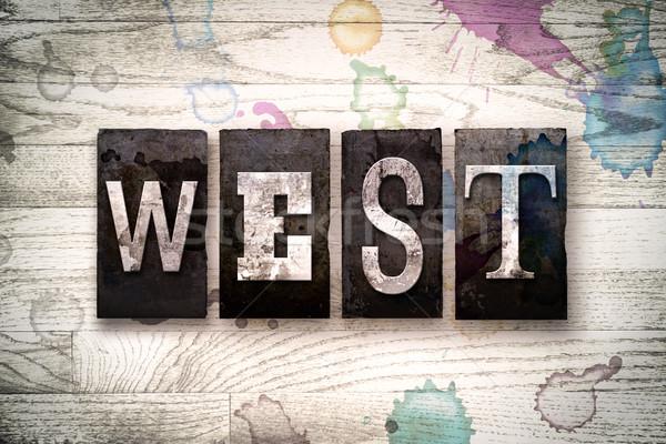West Concept Metal Letterpress Type Stock photo © enterlinedesign