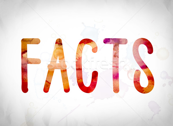 Facts Concept Watercolor Word Art Stock photo © enterlinedesign
