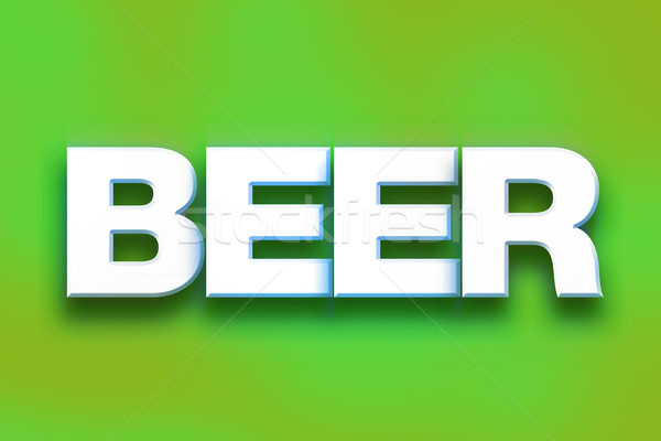 Beer Concept Colorful Word Art Stock photo © enterlinedesign