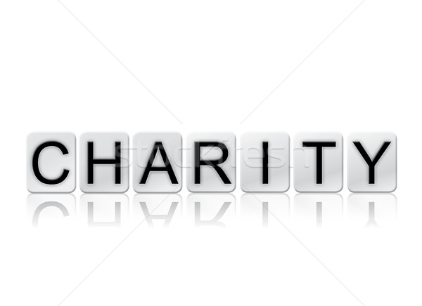 Charity Isolated Tiled Letters Concept and Theme Stock photo © enterlinedesign