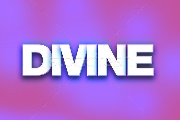 Divine Concept Colorful Word Art Stock photo © enterlinedesign