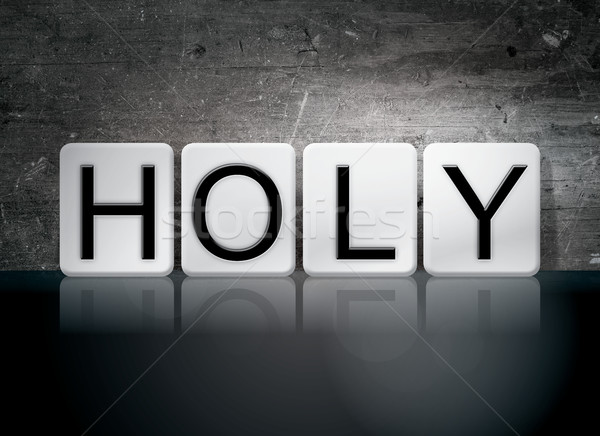 Holy Tiled Letters Concept and Theme Stock photo © enterlinedesign
