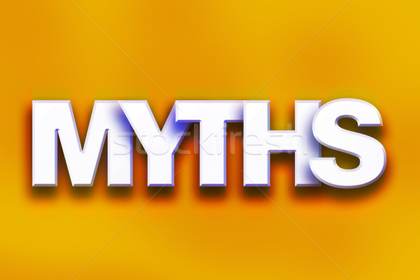 Myths Concept Colorful Word Art Stock photo © enterlinedesign