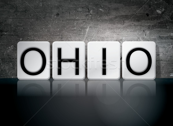 Ohio azulejos cartas palabra escrito blanco Foto stock © enterlinedesign