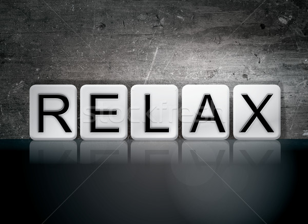 Relax Tiled Letters Concept and Theme Stock photo © enterlinedesign