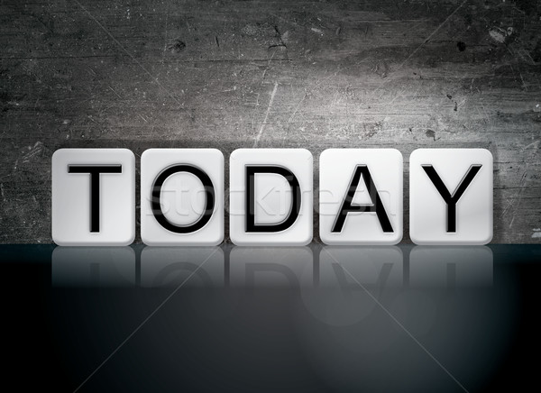 Dzisiaj taflowy litery słowo napisany biały Zdjęcia stock © enterlinedesign