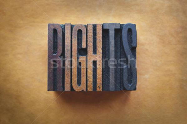Direitos palavra escrito vintage tipo Foto stock © enterlinedesign