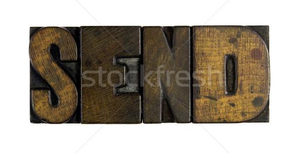 Wysłać słowo napisany vintage Zdjęcia stock © enterlinedesign