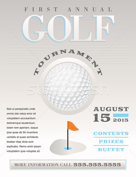 Minimal Golf Tournament Illustration Stock photo © enterlinedesign