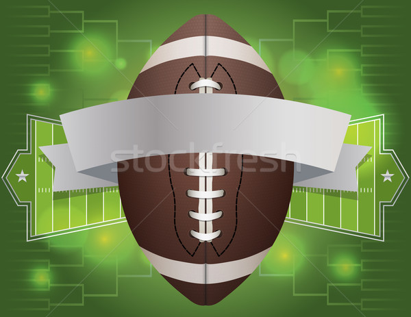 American Football Banner Illustration Stock photo © enterlinedesign