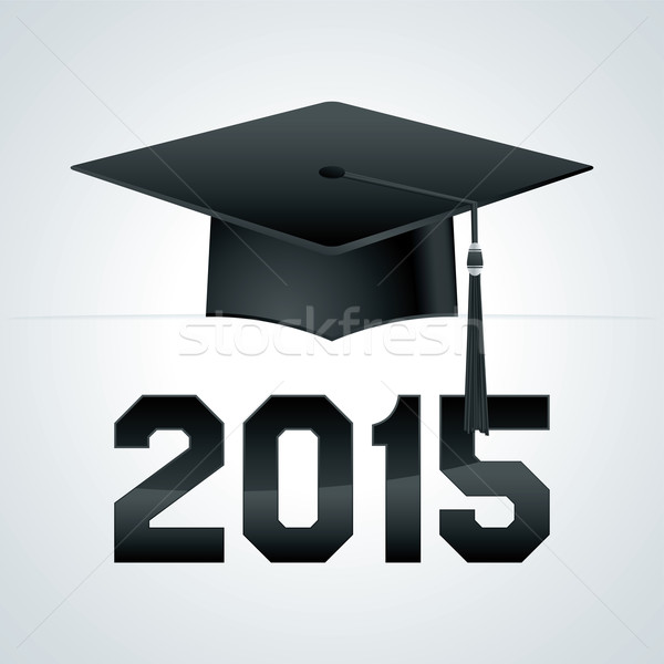 Class of 2015 Graduation Cap Illustration Stock photo © enterlinedesign