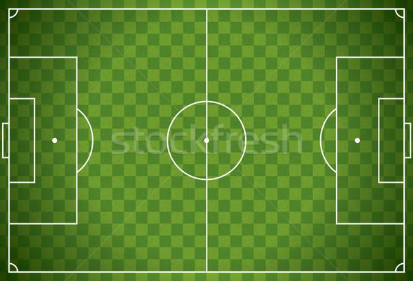 Realista fútbol campo de fútbol ilustración Foto stock © enterlinedesign