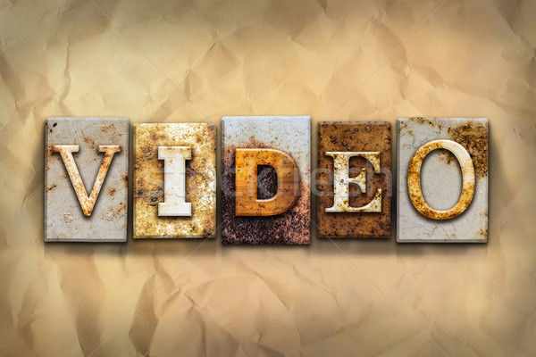 Video Concept Rusted Metal Type Stock photo © enterlinedesign