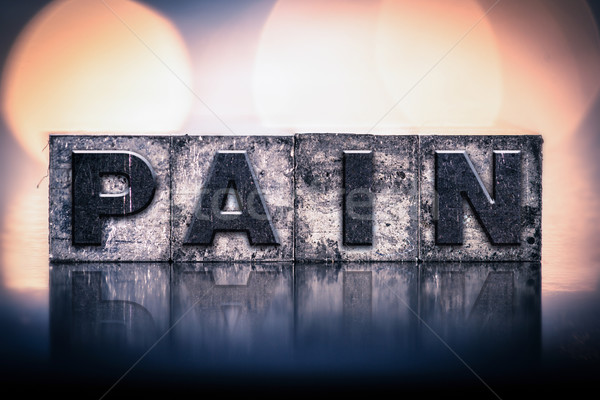 Pain Concept Vintage Letterpress Type Stock photo © enterlinedesign