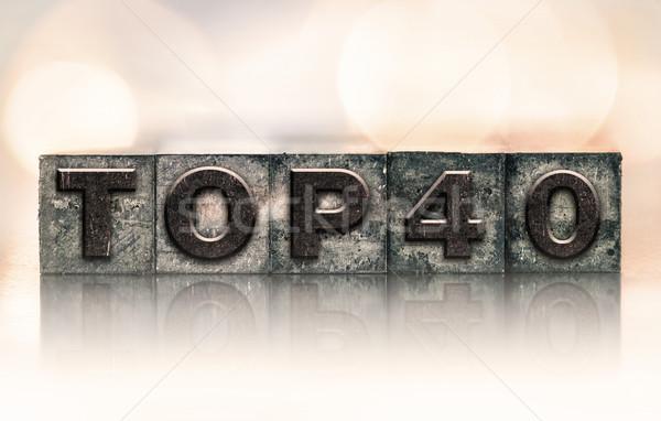 Felső 40 klasszikus magasnyomás szó Stock fotó © enterlinedesign