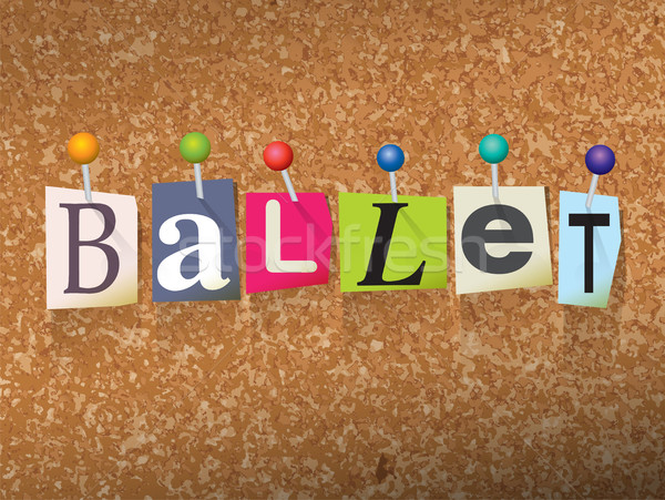 Stock photo: Ballet Concept Pinned Letters Illustration