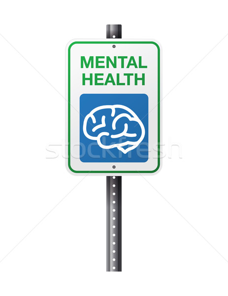 Mental Health Sign Stock photo © enterlinedesign