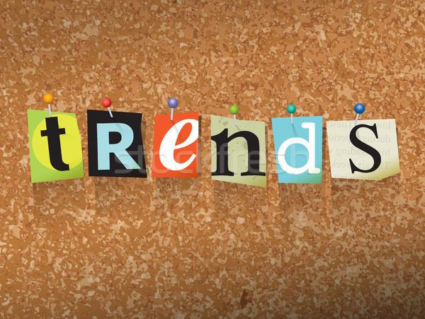 Trends papier illustratie woord geschreven gesneden Stockfoto © enterlinedesign
