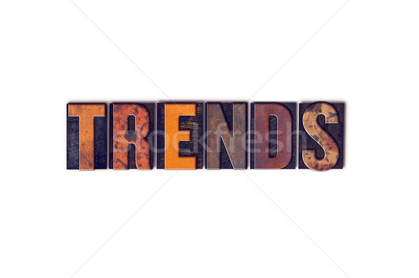 Trends geïsoleerd type woord geschreven Stockfoto © enterlinedesign
