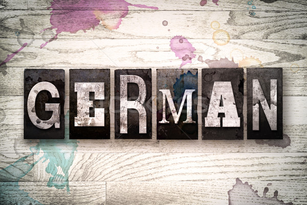 German Concept Metal Letterpress Type Stock photo © enterlinedesign