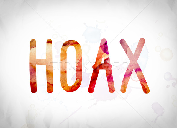 Hoax Concept Watercolor Word Art Stock photo © enterlinedesign