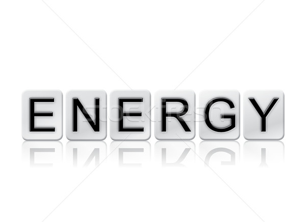Energy Isolated Tiled Letters Concept and Theme Stock photo © enterlinedesign