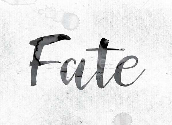 Fate Concept Painted in Ink Stock photo © enterlinedesign
