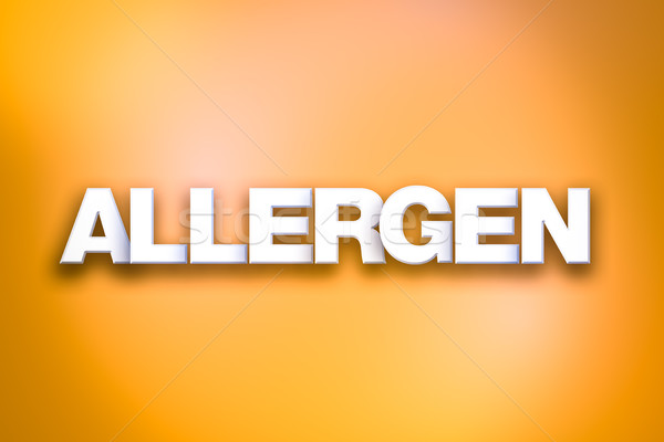 Allergen Theme Word Art on Colorful Background Stock photo © enterlinedesign