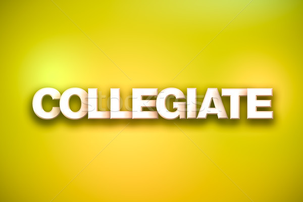 Collegiate Theme Word Art on Colorful Background Stock photo © enterlinedesign