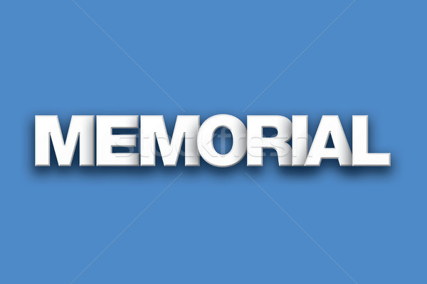 Memorial Theme Word Art on Colorful Background Stock photo © enterlinedesign