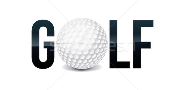 Golf Word Art Illustration Stock photo © enterlinedesign