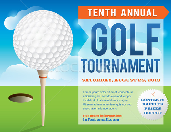 Golf Tournament Invitation Design Stock photo © enterlinedesign