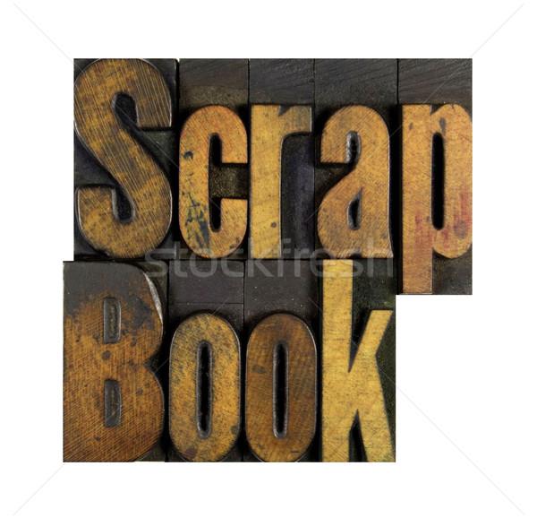 Scrap Book Stock photo © enterlinedesign