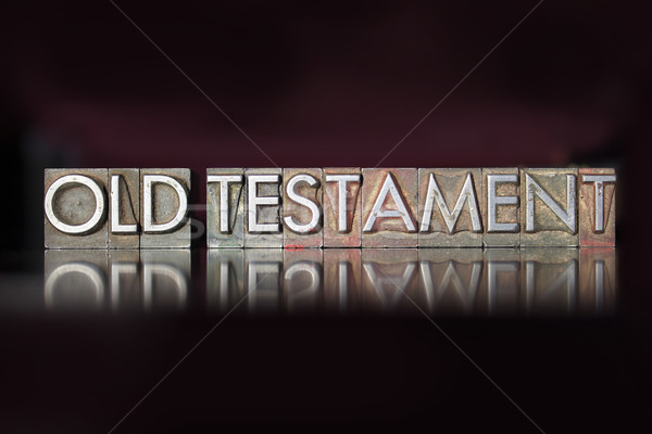 Old Testament Letterpress Stock photo © enterlinedesign
